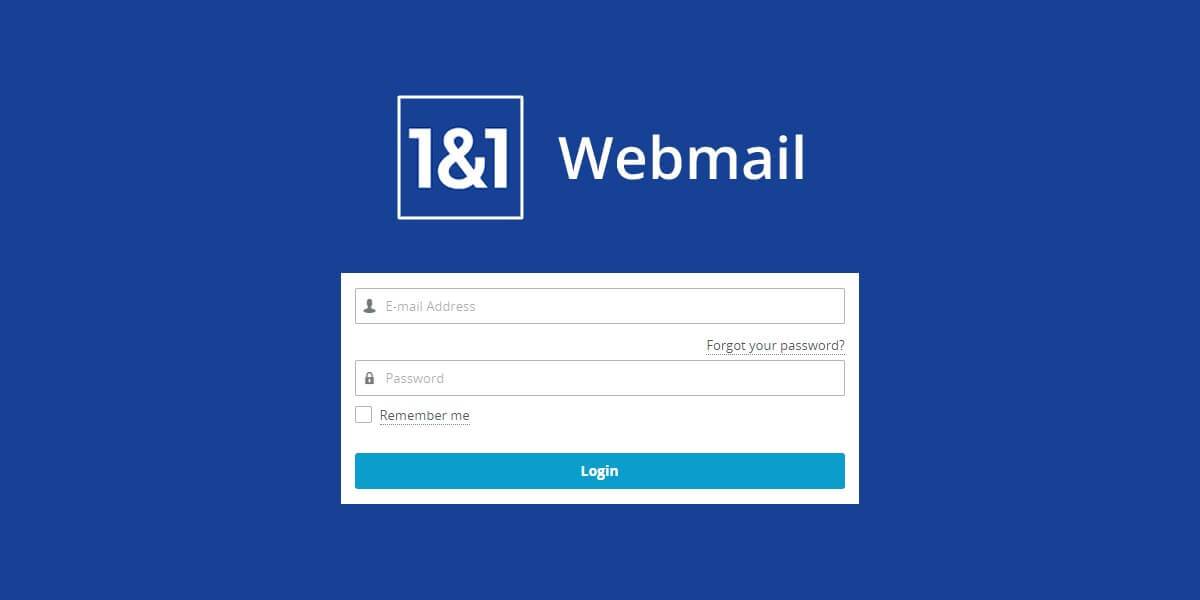 email1and1 Login Webmail