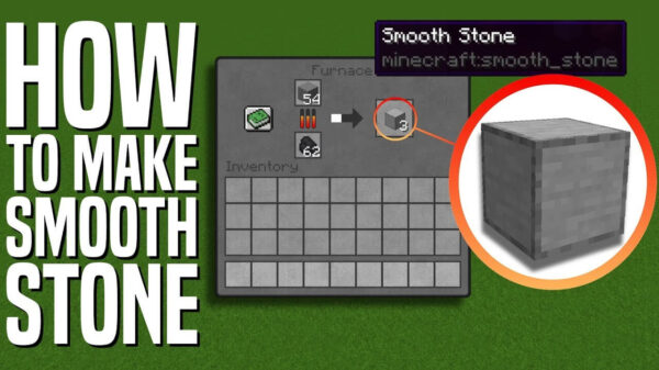 How to make the smooth stone in Minecraft?